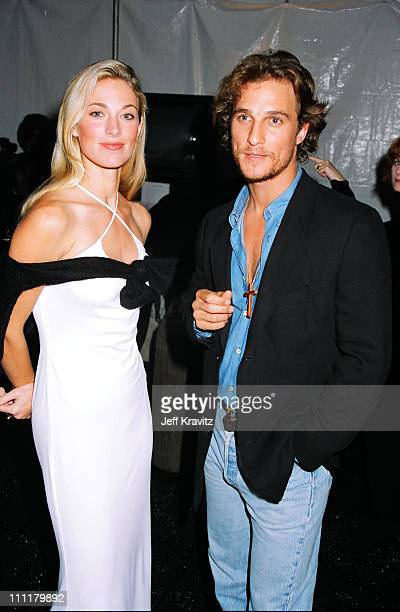 Elaine Irwin and Matthew McConaughey during 1996 City of Hope at Universal Studios Hollywood in Universal City California United States