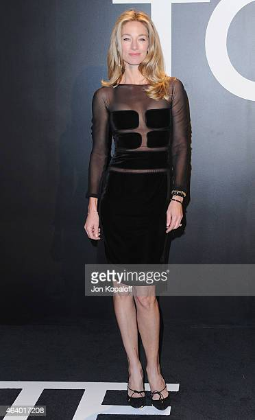 Elaine Irwin arrives at Tom Ford Autumn/Winter 2015 Womenswear Collection Presentation at Milk Studios on February 20 2015 in Los Angeles California
