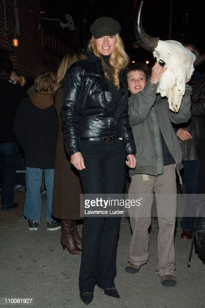 Elaine Irwin during Kelly Ripa and John Mellencamp Outside Late Show with David Letterman February 7 2007 at Ed Sullivan Theater in New York New York...