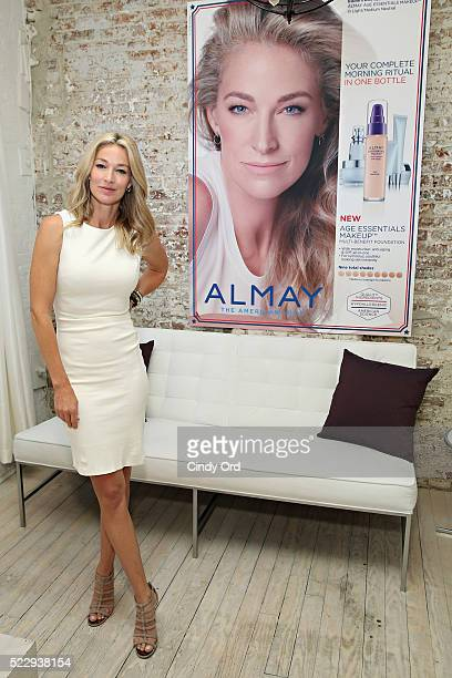 Elaine Irwin face of Almay Age Essentials Collection attends collection launch at Loft 29 on April 21 2016 in New York City
