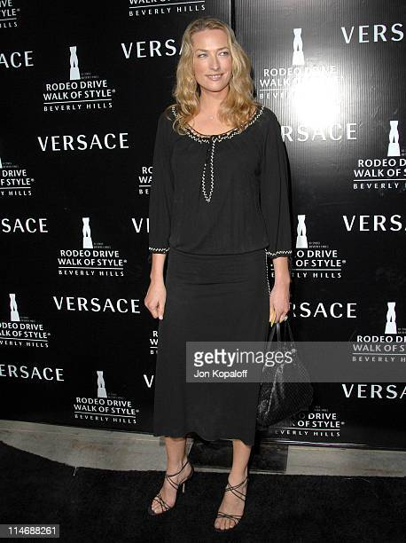 Elaine Irwin Mellencamp during Gianni and Donatella Versace Receive The Rodeo Drive Walk of Style Award Arrivals at Beverly Hills City Hall in...