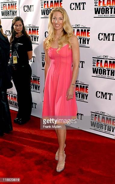 Elaine IrwinMellencamp during CMT 2004 Flame Worthy Video Music Awards Arrivals at Gaylord Entertainment Center in Nashville Tennessee United States