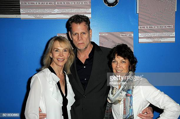 Elaine Joyce Al Corley and Marty Kaplan attend 'Phalaris's Bull Solving The Riddle Of The Great Big World' opening night at Beckett Theatre on...