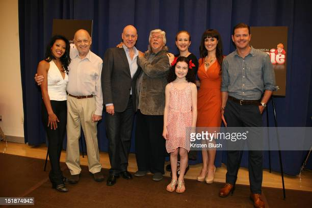 J Elaine Marcos Charles Strouse Anthony Warlow Martin Charnin Katie Finneran Brynn O'Malley Clarke Thorell and Lilla Crawford attends the 'Annie'...