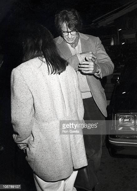 Elaine May and Warren Beatty during Elaine May and Warren Beatty Sighting April 16 1982 at Ma Maison Restaurant in Hollywood California United States