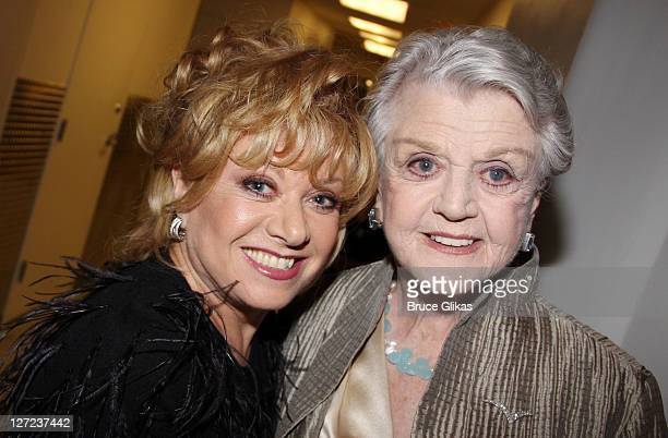 Elaine Page and Angela Lansbury attend the 2011 American Theatre Wing Gala at The Plaza Hotel on September 26 2011 in New York City