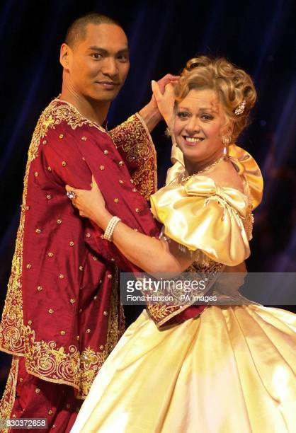 Elaine Paige and Jason Scott Lee rehearse their roles in 'The King And I' which is currently previewing at the London Palladium Argyll Street London