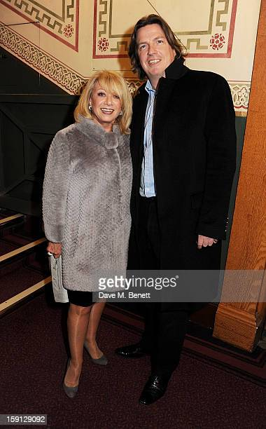 Elaine Paige and Justin Mallinson arrive at the opening night of Cirque Du Soleil's Kooza at Royal Albert Hall on January 8 2013 in London England