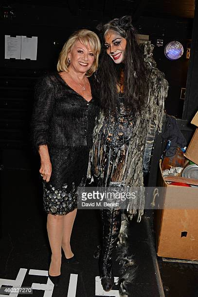 Elaine Paige and Nicole Scherzinger pose backstage following the press night performance of 'Cats' as Nicole Scherzinger joins the cast at the London...