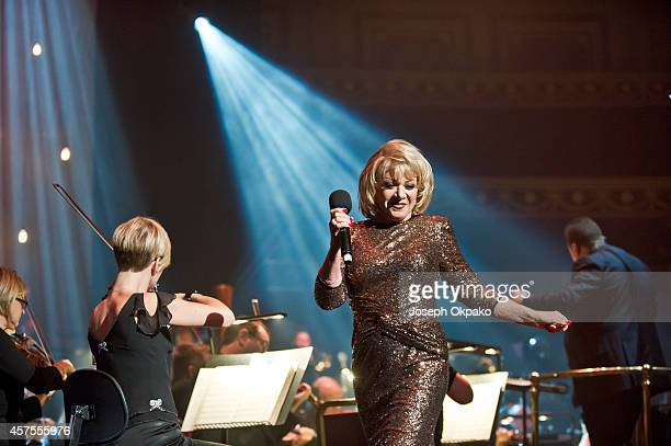 Elaine Paige performs on stage at Royal Albert Hall on October 20 2014 in London United Kingdom