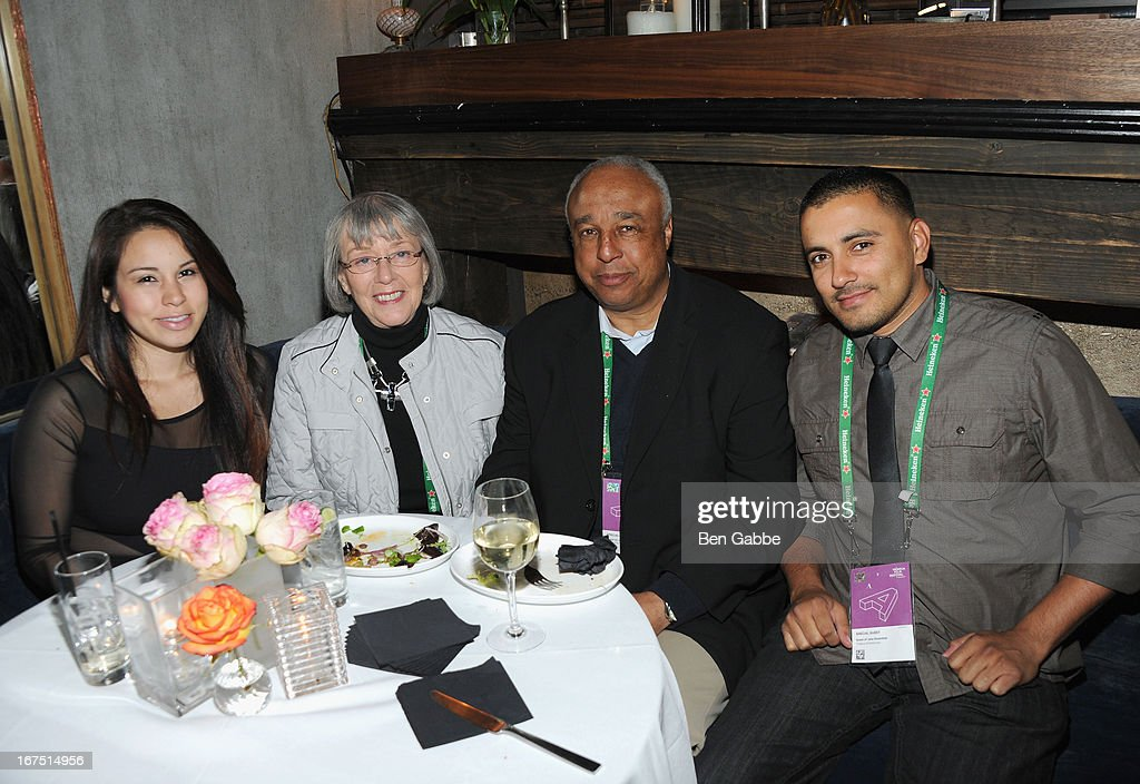 Elaine Sanchez, Ina Rosenthal, Arnold Baker, Paul Carrillo attend the Out of Print Tribeca Film Festival After Party on April 25, 2013 in New York City.