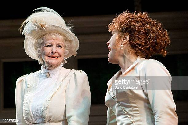 Elaine Stritch and Bernadette Peters attend Bernadette Peters Elaine Stritch's first performance in 'A Little Night Music' at Walter Kerr Theatre on...