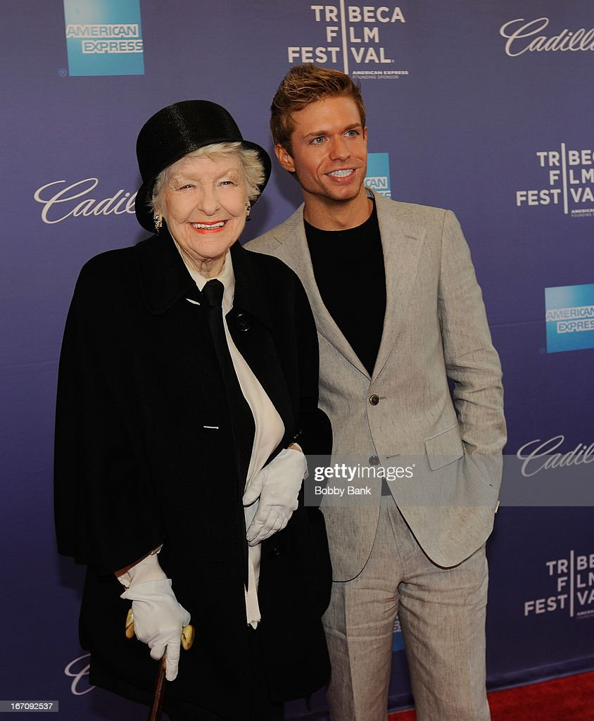 Elaine Stritch and Hunter Ryan Herdlicka attend the screening of 'Elaine Stritch: Shoot Me' during the 2013 Tribeca Film Festival at SVA Theater 1 on April 19, 2013 in New York City.