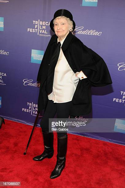 Elaine Stritch attends the 'Elaine Stritch Shoot Me' world premiere during the 2013 Tribeca Film Festival on April 19 2013 in New York City