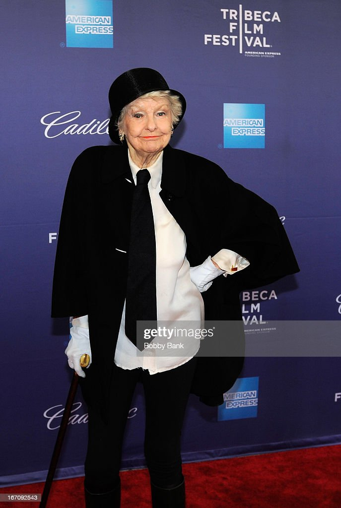 Elaine Stritch attends the screening of 'Elaine Stritch: Shoot Me' during the 2013 Tribeca Film Festival at SVA Theater 1 on April 19, 2013 in New York City.