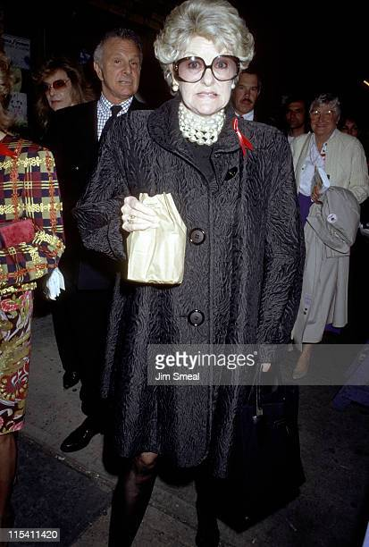 Elaine Stritch during Benefit for Friends In Need AIDS May 4 1992 at Brooks Atkinson Theater in New York City New York United States