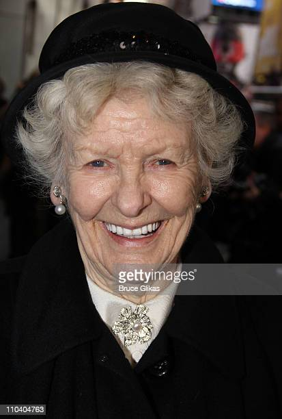 Elaine Stritch poses at the opening night of 'Arcadia' on Broadway at the Ethel Barrymore Theatre on March 17 2011 in New York City