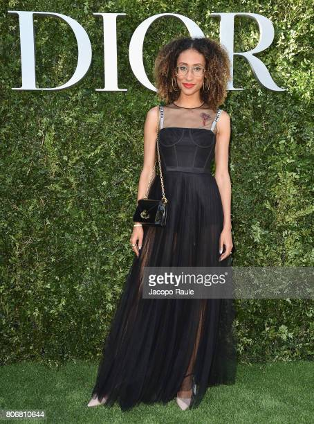 Elaine Welteroth attends 'Christian Dior couturier du reve' Exhibition Launch celebrating 70 years of creation at Musee Des Arts Decoratifs on July 3...