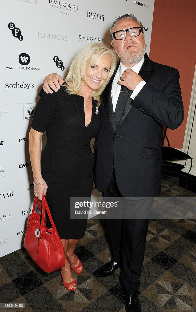 Elaine Winstone (L) and <a gi-track='captionPersonalityLinkClicked' href=/galleries/search?phrase=Ray+Winstone&family=editorial&specificpeople=215084 ng-click='$event.stopPropagation()'>Ray Winstone</a> attend a BFI Luminous Gala ahead of the London Film Festival at 8 Northumberland Avenue on October 8, 2013 in London, England.