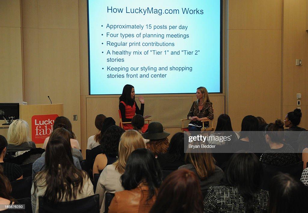 Elana Fishman and Jordan Reid speak at Lucky Magazine's Two-Day East Coast