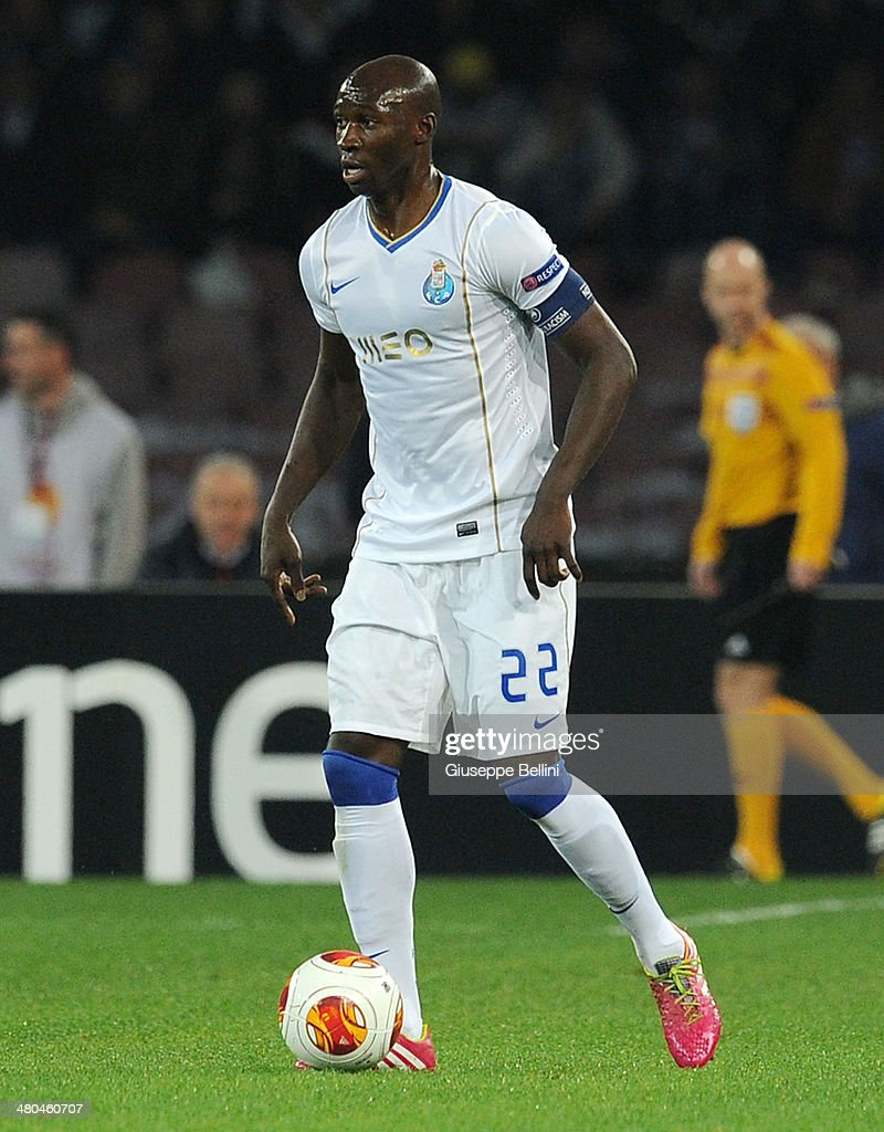 Elaquim Mangala of FC Porto in action during the UEFA Europa League Round of 16 match between SSC Napoli and FC Porto at Stadio San Paolo on March 20, 2014 in Naples, Italy.