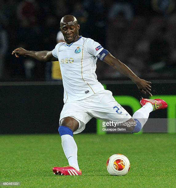 Elaquim Mangala of FC Porto in action during the UEFA Europa League Round of 16 match between SSC Napoli and FC Porto at Stadio San Paolo on March 20...