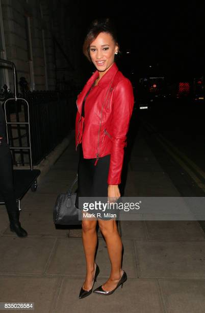 Elarica Gallacher attends the GUESS Loves Priyanka VIP Dinner at the London Edition Hotel on January 20 2014 in London England