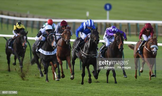 Elarqam ridden by Jim Crowley goes on to win the Tattersalls Stakes during day one of the Cambridgeshire Meeting at Newmarket Racecourse PRESS...