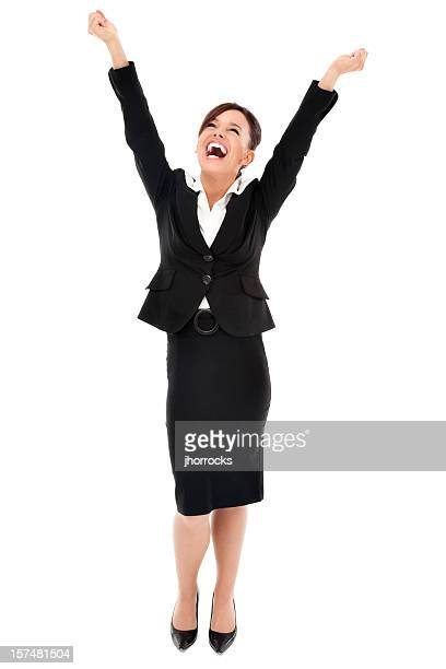 Elated Businesswoman