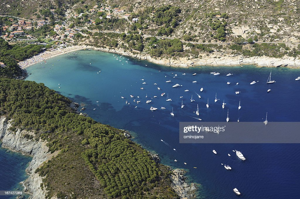 Isola d'Elba-Fetovaia beach : Stock Photo