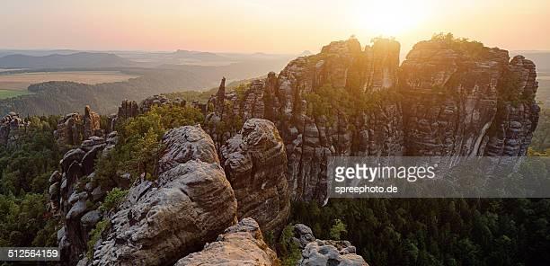 Elbe Sandstone Mountains at Saxon Schwitzerland