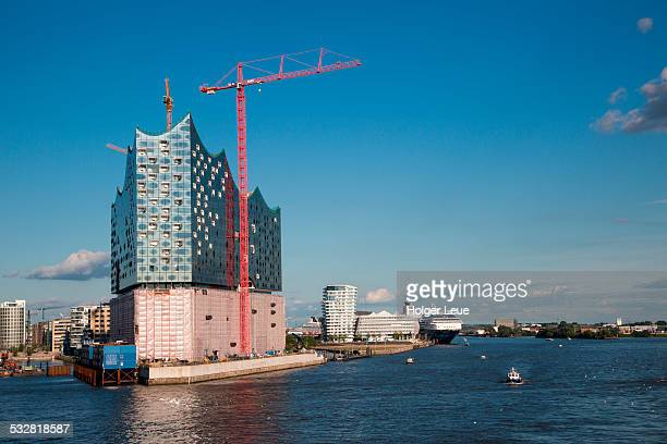 Elbphilharmonie concert hall under construction