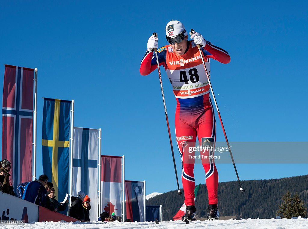 <a gi-track='captionPersonalityLinkClicked' href=/galleries/search?phrase=Eldar+Roenning&family=editorial&specificpeople=802581 ng-click='$event.stopPropagation()'>Eldar Roenning</a> of Norway during Men 10.0 km Individual, Classic Tour de Ski on January 7, 2015 in Toblach Hochpustertal, Italy.