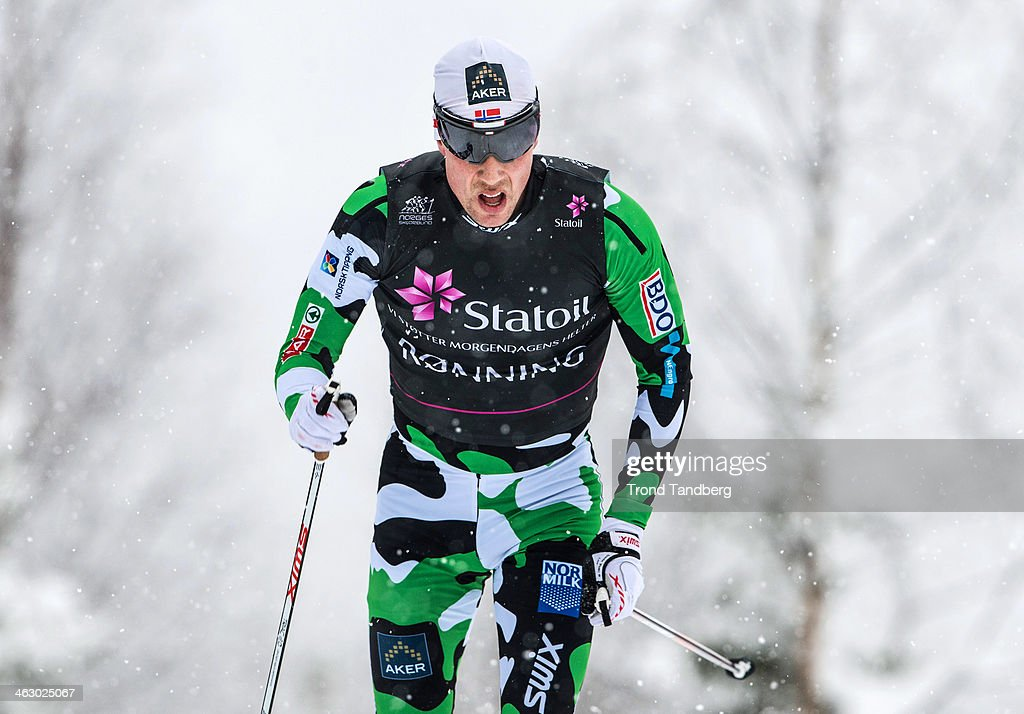 Eldar Ronning of Norway in action during the Men's 15 km Classic at the 2014 Norwegian Cross Country Championship on January 16, 2014 in Lillehammer, Norway.