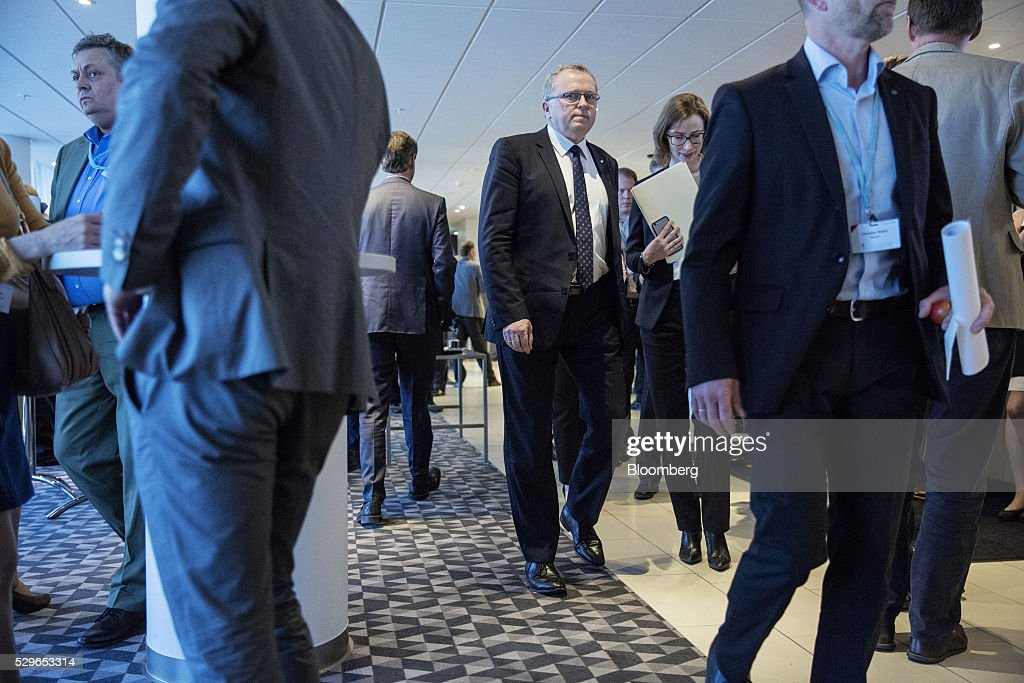 Eldar Saetre chief executive officer of Statoil ASA arrives for the Federation of Norwegian Industries Conference in Oslo Norway on Monday May 9 2016...