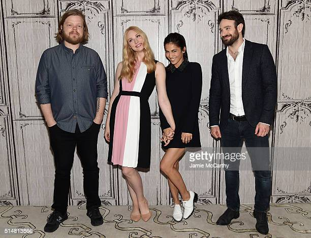 Elden Henson Deborah Ann Wool Elodie Yung and Charlie Cox of Netflix Original Series 'Marvel's Daredevil' attend the AOL Build Speakers Series at AOL...