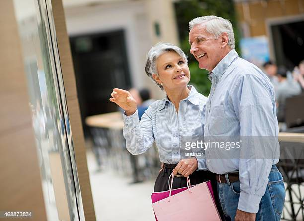 Elder couple at the shopping center