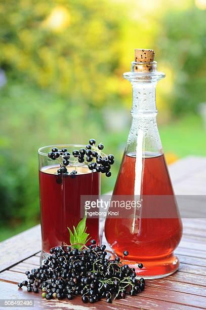 Elderberry juice, elderberries -Sambucus nigra-
