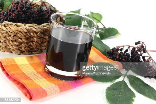 Elderberry juice : Stock Photo