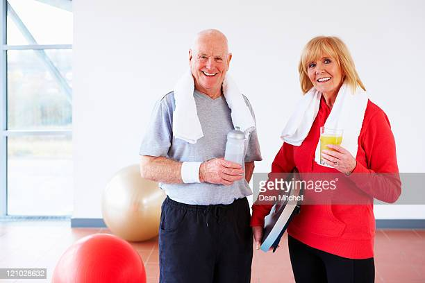 Elderly Couple After a Workout