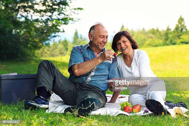 Elderly Couple At Picnic
