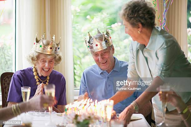 Elderly Couple Celebrating Anniversary