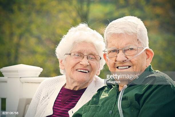 Elderly Couple Happy Together