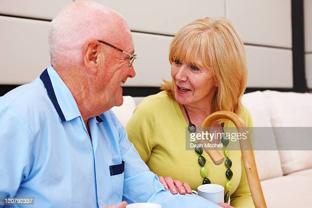 Elderly Couple in a Waiting Room