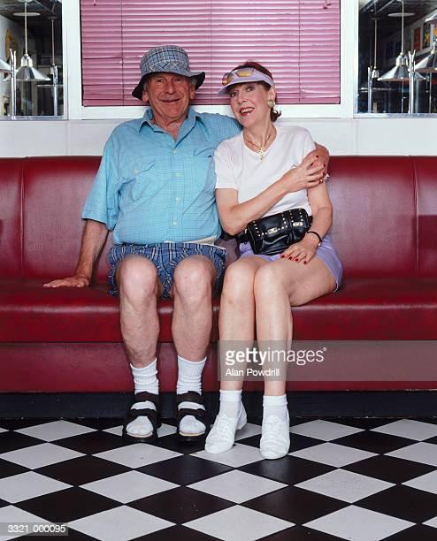 Elderly Couple in Diner
