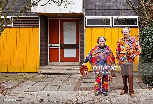 Elderly Couple in eccentric outfits
