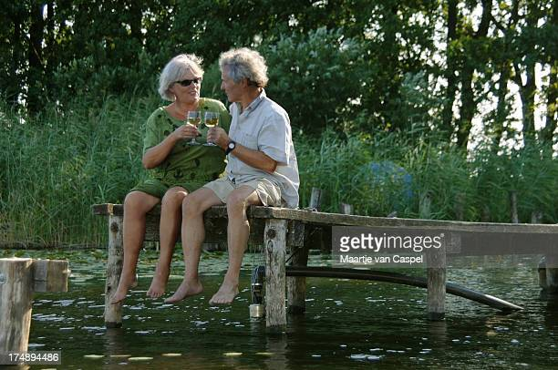 Elderly Couple on little Pier