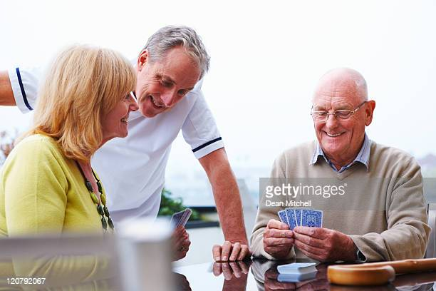 Ältere paar Spielkarten