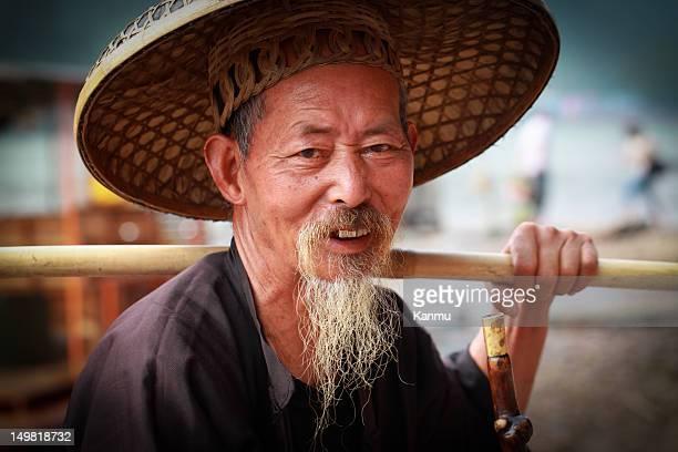 Elderly  fisherman