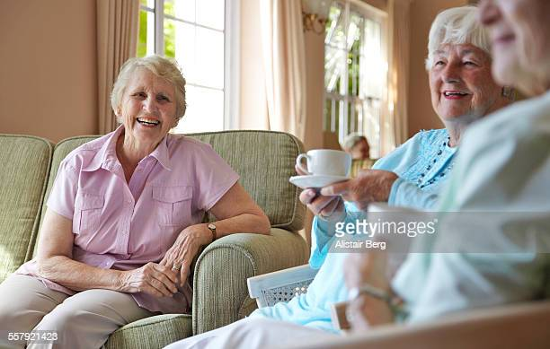 Elderly ladies in a retirement home